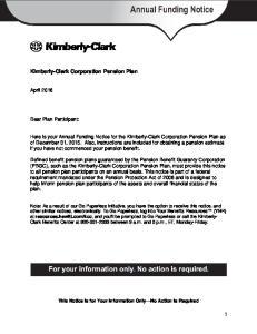 Kimberly-Clark Corporation Pension Plan