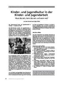 Kinder- und Jugendkultur in der Kinder- und Jugendarbeit