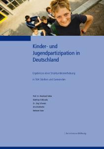 Kinder und Jugendpartizipation in Deutschland