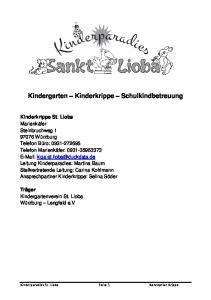 Kindergarten Kinderkrippe Schulkindbetreuung