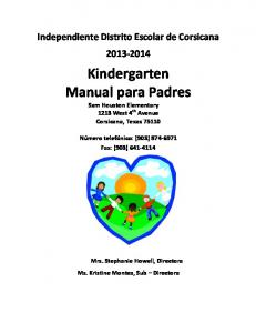 Kindergarten Manual para Padres