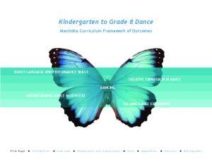 Kindergarten to Grade 8 Dance