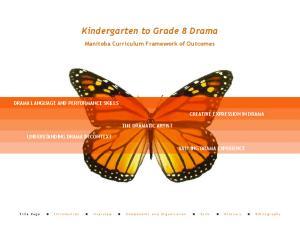 Kindergarten to Grade 8 Drama