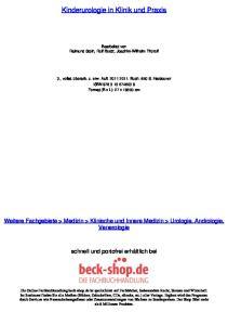 Kinderurologie in Klinik und Praxis