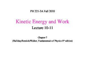 Kinetic Energy and Work