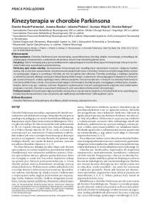 Kinezyterapia w chorobie Parkinsona
