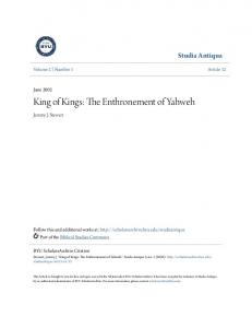 King of Kings: The Enthronement of Yahweh