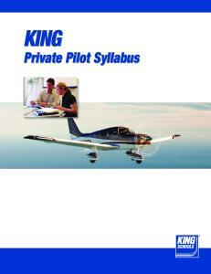 KING. Private Pilot Syllabus