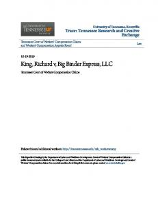 King, Richard v, Big Binder Express, LLC