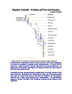 Kingdom Animalia - Evolution of Form and Function by Dana Krempels