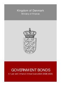 Kingdom of Denmark. Ministry of Finance GOVERNMENT BONDS. 0.1 per cent inflation-linked loans 2023 (DGBi 2023)