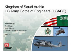 Kingdom of Saudi Arabia US Army Corps of Engineers (USACE)