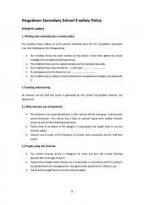 Kingsdown Secondary School E-safety Policy