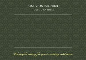 Kingston Bagpuize. The perfect setting for your wedding celebration