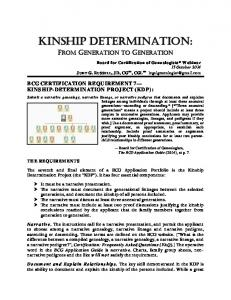 KINSHIP DETERMINATION: