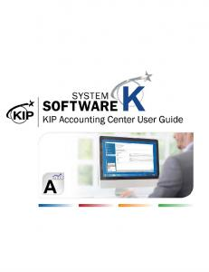 KIP Accounting Center User Guide