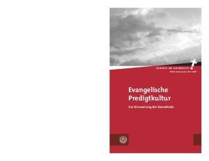 kirche im aufbruch Reformprozess der EKD Evangelische Predigtkultur Zur Erneuerung der Kanzelrede