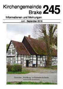Kirchengemeinde Brake Informationen und Meinungen