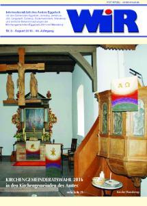 KIRCHENGEMEINDERATSWAHL 2016 in den Kirchengemeinden des Amtes