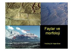 KIRIKLAR VE FAYLAR. Yaşar EREN Faylar ve morfoloji. Yrd.Doç.Dr.Yaşar Eren