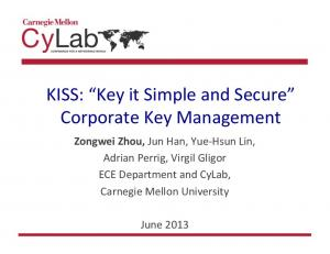 KISS: Key it Simple and Secure Corporate Key Management