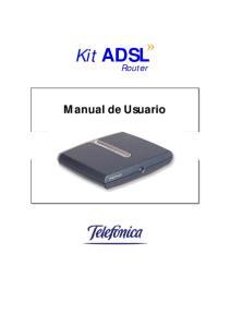 Kit ADSL. Router. Manual de Usuario
