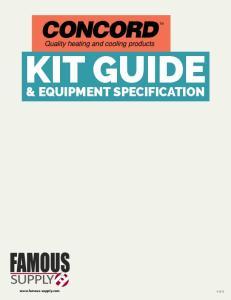 KIT GUIDE & EQUIPMENT SPECIFICATION