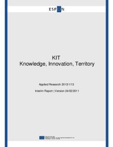 KIT Knowledge, Innovation, Territory