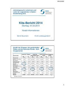 Kita-Bericht 2014 Stichtag: