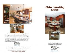 Kitchen Remodeling IDEAS. Kitchen Remodeling Projects Designed and Installed by