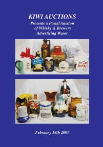 KIWI AUCTIONS. Presents a Postal Auction of Whisky & Brewery Advertising Wares