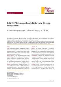 K.K.T.C'de Laparoskopik Kolorektal Cerrahi Deneyimimiz