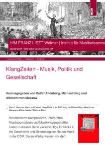 KlangZeiten - Musik, Politik und Gesellschaft