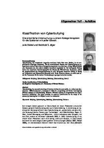 Klassifikation von Cyberbullying