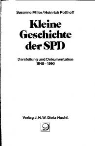 Kleine Geschichte der SPD