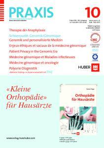 «Kleine Orthopädie» für Hausärzte