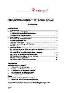 KLEINGARTENKONZEPTION HALLE (SAALE)