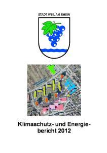 Klimaschutz- und Energiebericht