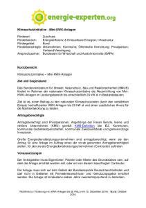 Klimaschutzinitiative - Mini-KWK-Anlagen