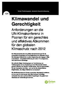 Klimawandel und Gerechtigkeit