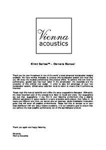 Klimt Series Owners Manual