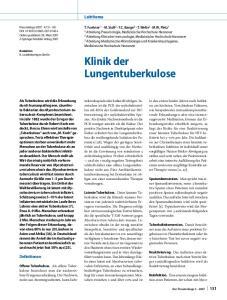 Klinik der Lungentuberkulose
