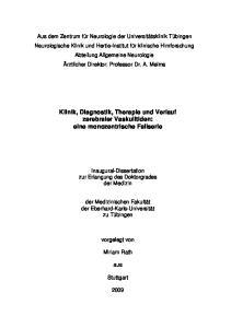Klinik, Diagnostik, Therapie und Verlauf zerebraler Vaskulitiden: eine monozentrische Fallserie