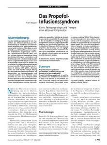 Klinik, Pathophysiologie und Therapie einer seltenen Komplikation
