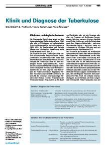 Klinik und Diagnose der Tuberkulose