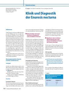 Klinik und Diagnostik der Enuresis nocturna