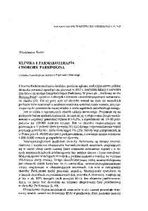 KLINIKA I FARMAKOTERAPIA CHOROBY PARKINSONA