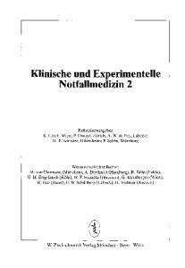 Klinische und Experimentelle Notfallmedizin 2