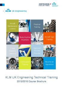 KLM UK Engineering Technical Training