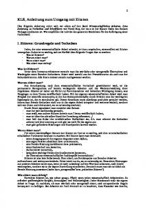 KLS, Anleitung zum Umgang mit Zitaten